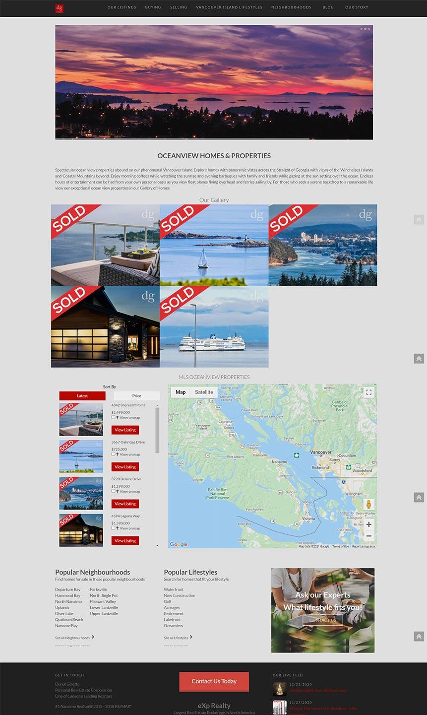 Derek Gillette Website example