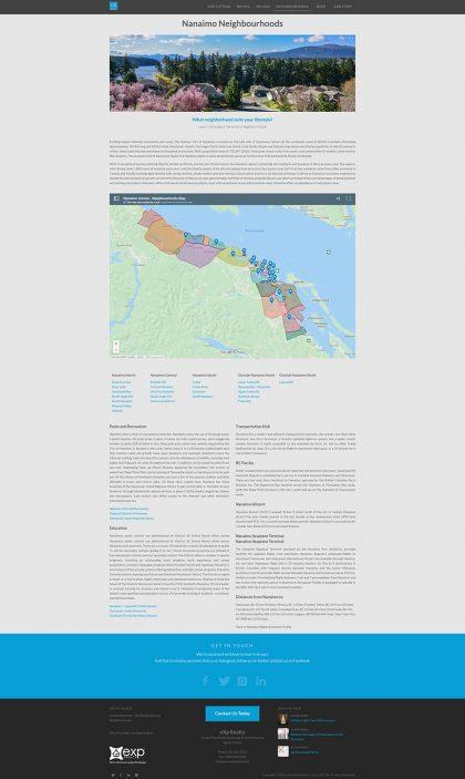 Nanaimo Homes - Real Estate website optimization