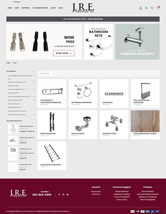 Shop Page - eCommerce web development